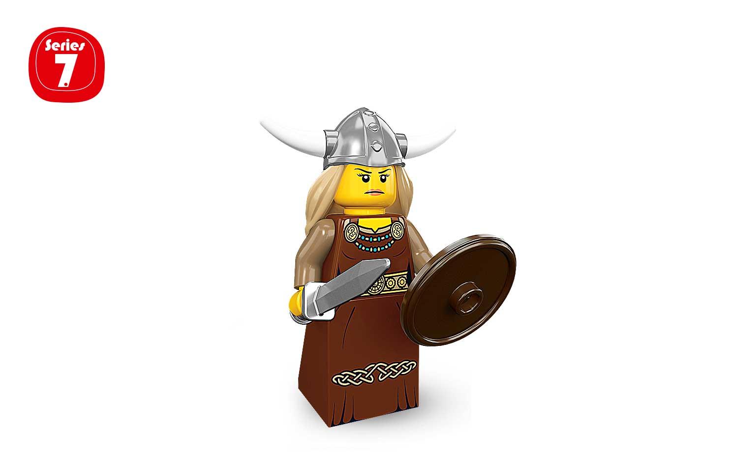 Lego Minifigures Series 7 Viking Woman - Art Toy Mania ...